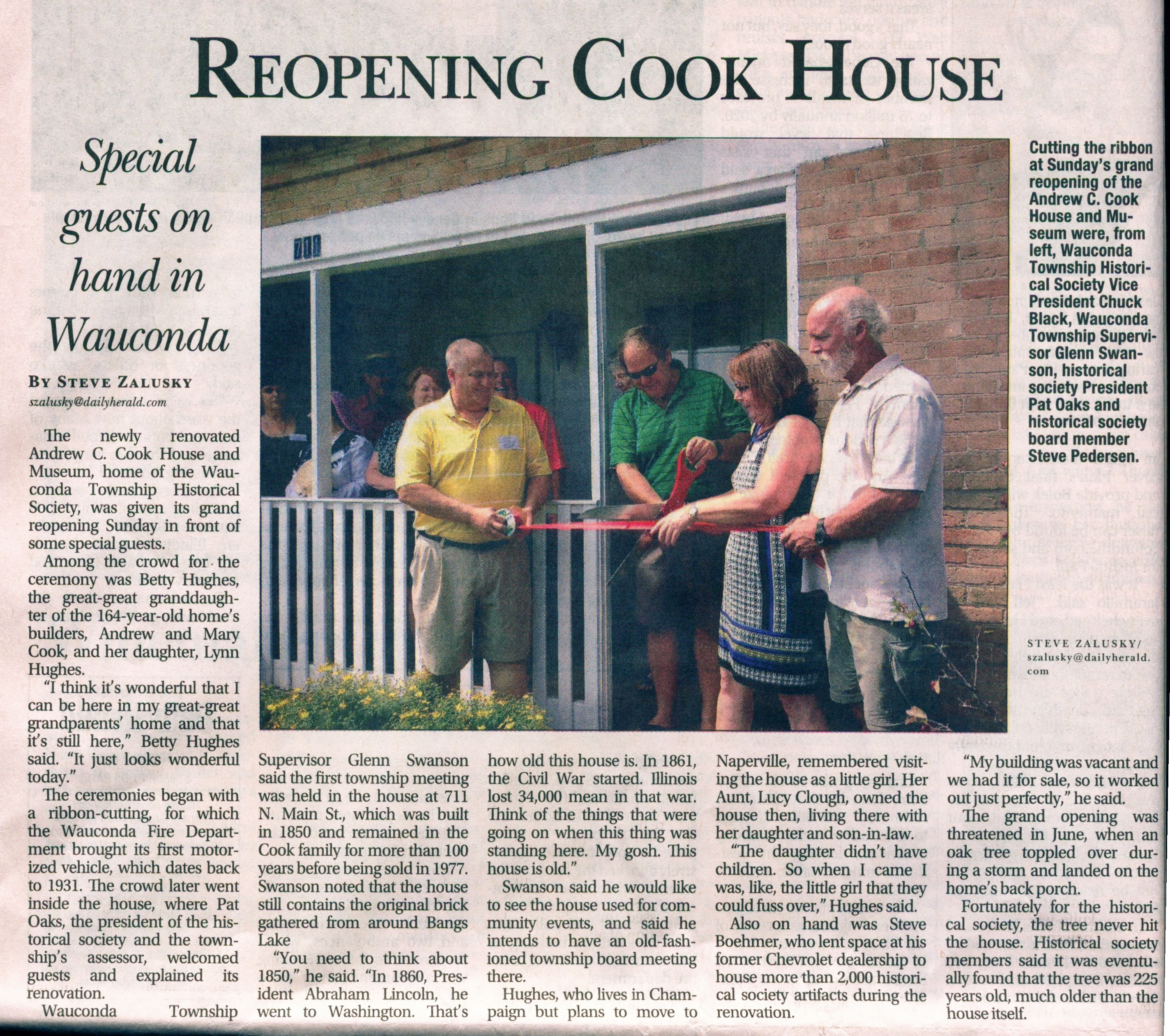 cook house opening daily herald ScanStat